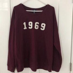 Gap 1969 Maroon Sweatshirt, Size XXL